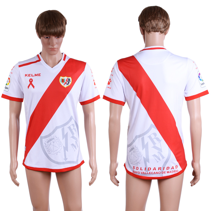 2016-2017 club Rayo Vallecano home White AAA+Soccer Jersey
