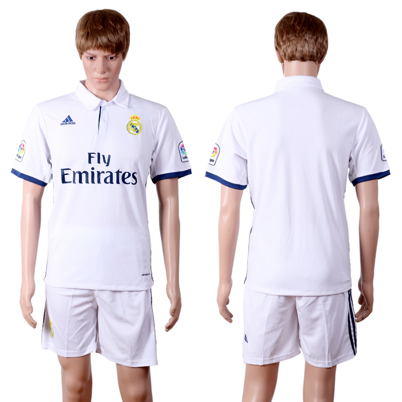 2016-2017 club Real Madrid home white soccer jerseys