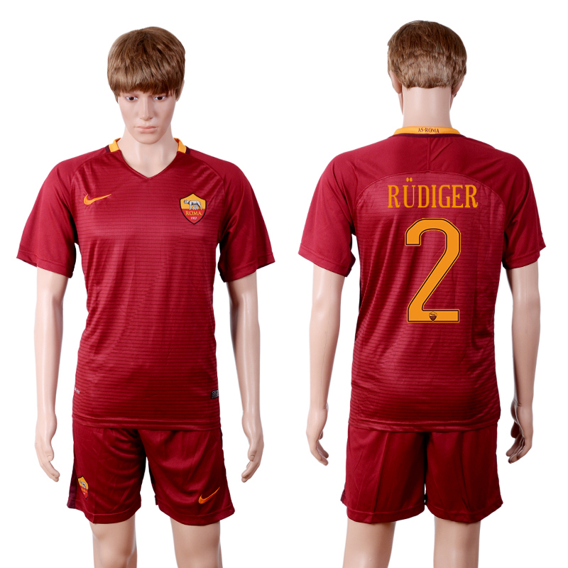 2016-2017 club Rome home 2 Red Soccer Jersey