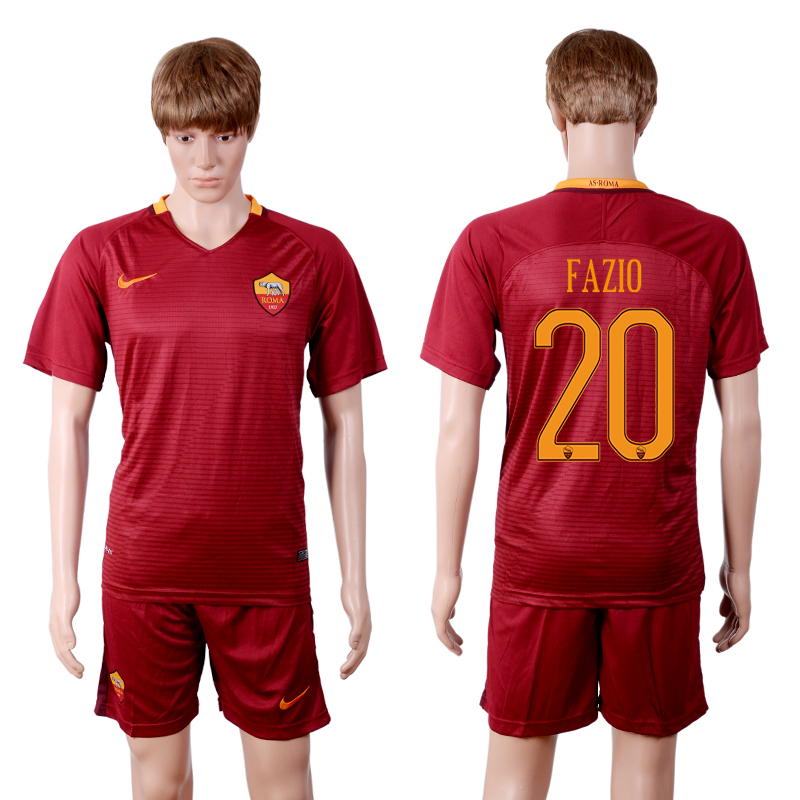 2016-2017 club Rome home 20 Red Soccer Jersey