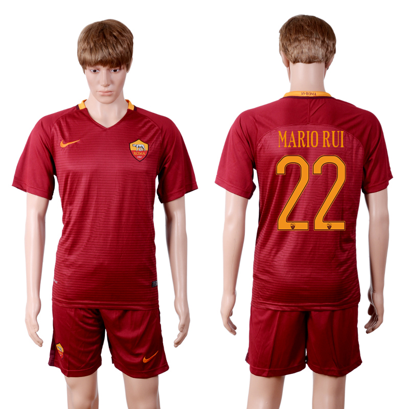 2016-2017 club Rome home 22 Red Soccer Jersey