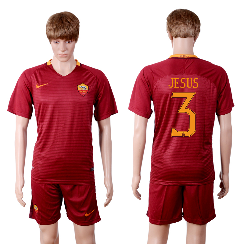 2016-2017 club Rome home 3 Red Soccer Jersey