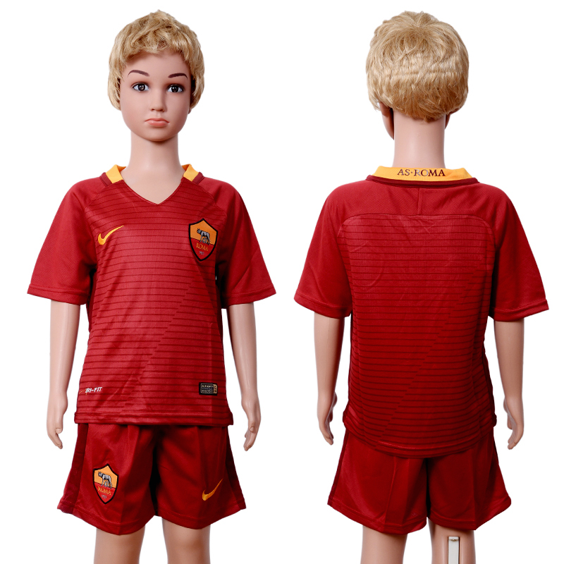 2016-2017 club Rome home red Kids soccer jerseys