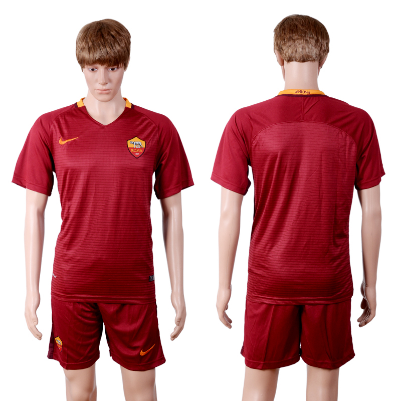 2016-2017 club Rome red home soccer jerseys