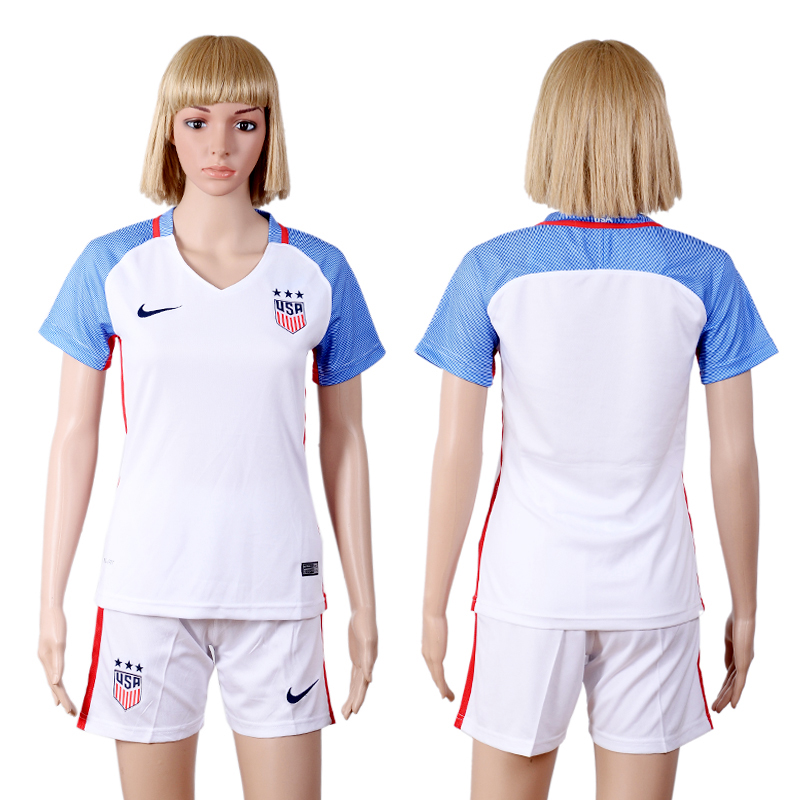 2016-2017 national USA home woman white soccer jerseys