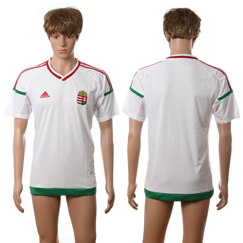 European Cup 2016 Hungary away blank white AAA+ soccer jerseys