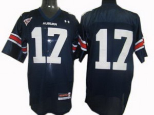 NCAA Under Armour Auburn Tigers 17 Football Jersey Navy Blue