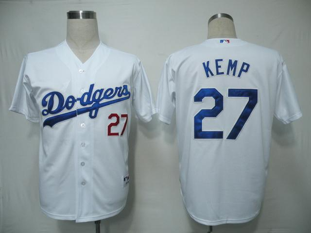 MLB Jersey Los Angeles Dodgers 27 Kemp White