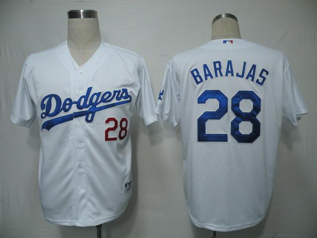 MLB Jersey Los Angeles Dodgers 28 Barajas White