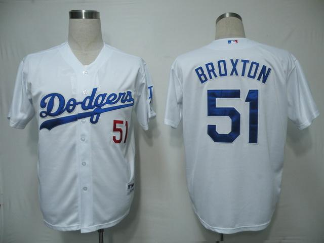 MLB Jersey Los Angeles Dodgers 51 Broxton White