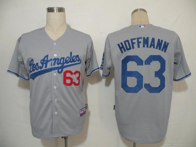 MLB Jersey Los Angeles Dodgers 63 Hoffmann Grey
