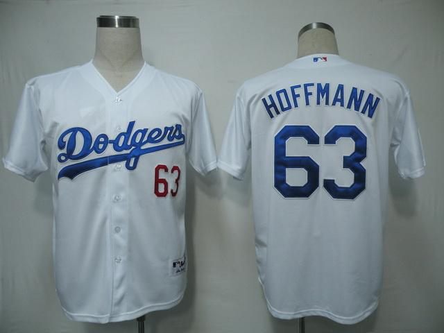 MLB Jersey Los Angeles Dodgers 63 Hoffmann White