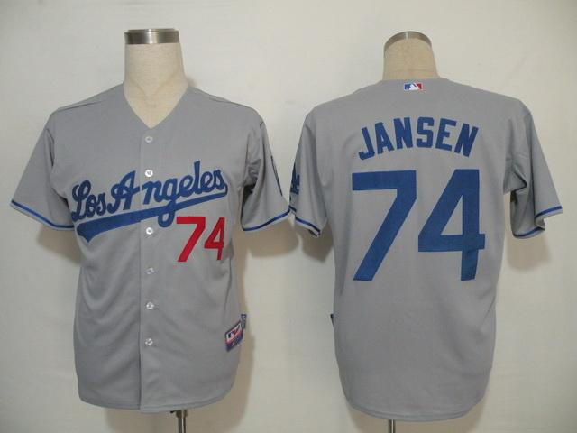 MLB Jersey Los Angeles Dodgers 74 Jansen Grey