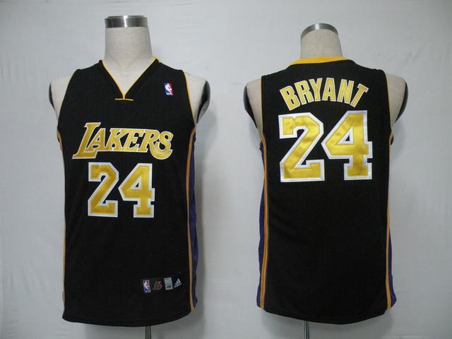 NBA LA Lakers 24 Bryant Black (gold)