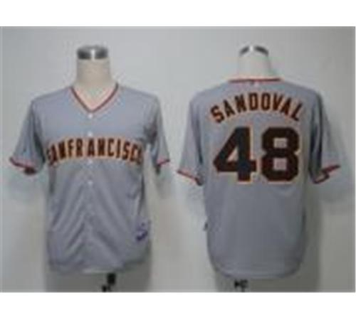 MLB Jerseys San Francisco Giants 48 Sandoval Grey Cool Base