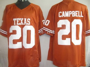 2011 NCAA Texas Longhorns 20 Earl Campbell Orange Jerseys