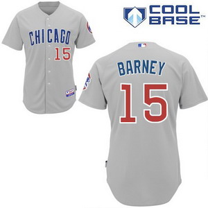 Chicago Cubs 15 darwin barney cool base jerseys grey jersey