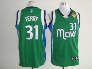 Dallas Mavericks 31 Jason Terry Green Jersey Finals Patch