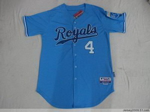 Kansas City Royals 4 GORDON LT BLUE JERSEY