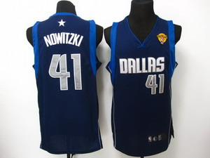 nba dallas mavericks 41 nowitzki DK blue 2011 Finals