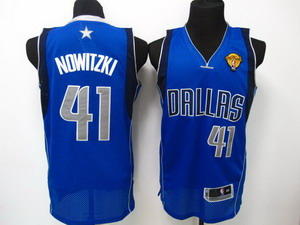 nba dallas mavericks 41 nowitzki LT blue 2011 Finals