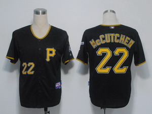 MLB Jerseys Pittsburgh Pirates 22 Mccutchen Black Cool Base