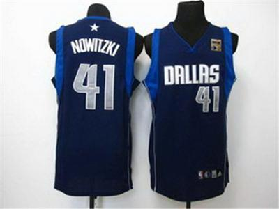 Dallas Mavericks Dirk Nowitzki 41 d.k blue 2011 Champions Cup Patch Jersey