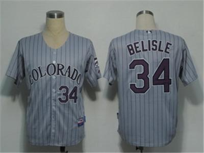 MLB Jerseys Colorado Rockies 34 Belisle Gery Cool Base