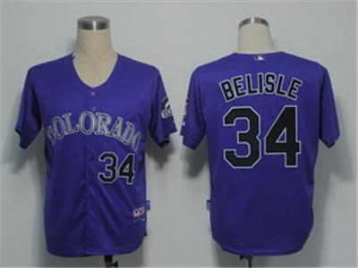 MLB Jerseys Colorado Rockies 34 Belisle Purple Cool Base