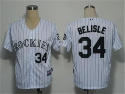 MLB Jerseys Colorado Rockies 34 Belisle White Cool Base