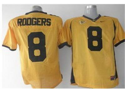 NCAA California Golden Bears 8 Aaron Rodgers jerseys Golden