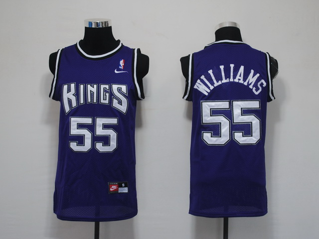 NBA Jerseys Sacramento Kings 55 Williams purple