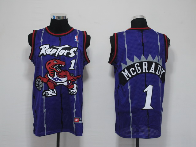 NBA Jerseys Toronto Raptors 1 Mcgrady Purple