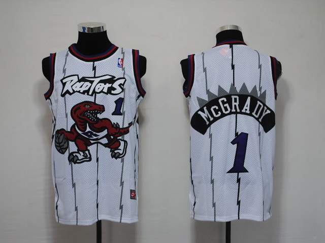 NBA Jerseys Toronto Raptors 1 Mcgrady White