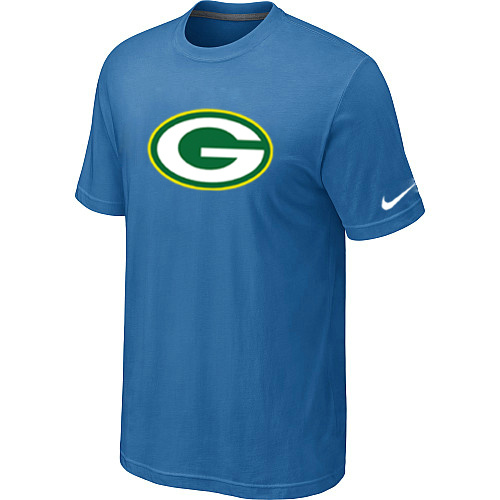 Green Bay Packers Sideline Legend Authentic Logo Dri-FIT T-Shirt light Blue