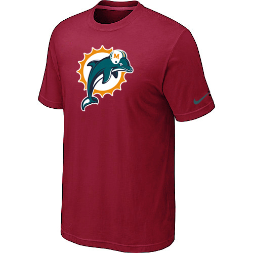 Miami Dolphins Sideline Legend Authentic Logo Dri-FIT T-Shirt Red