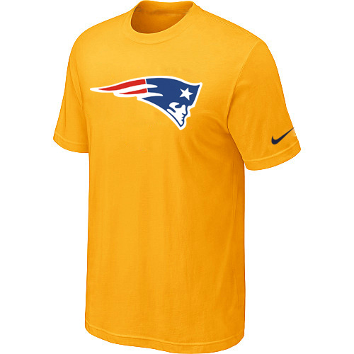 New England Patriots Sideline Legend Authentic Logo Dri-FIT T-Shirt Yellow