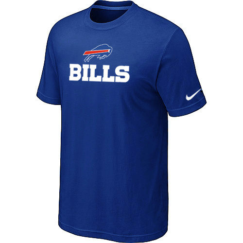 Nike Buffalo Bills Authentic Logo T-Shirt Blue