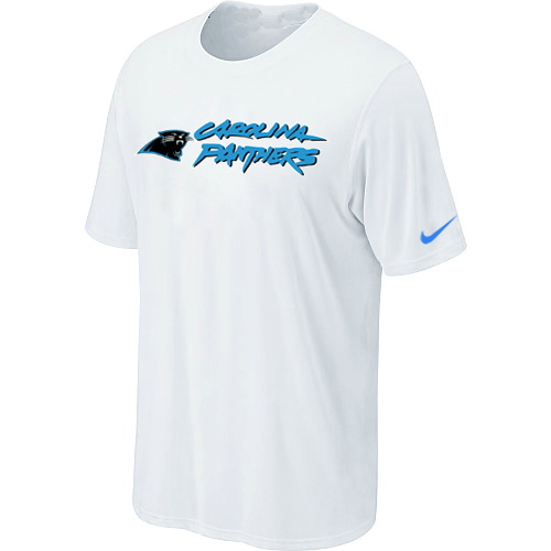 Nike Carolina Panthers Authentic Logo T-Shirt - White