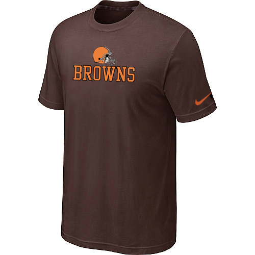 Nike Cleveland Browns Authentic Logo T-Shirt Brow