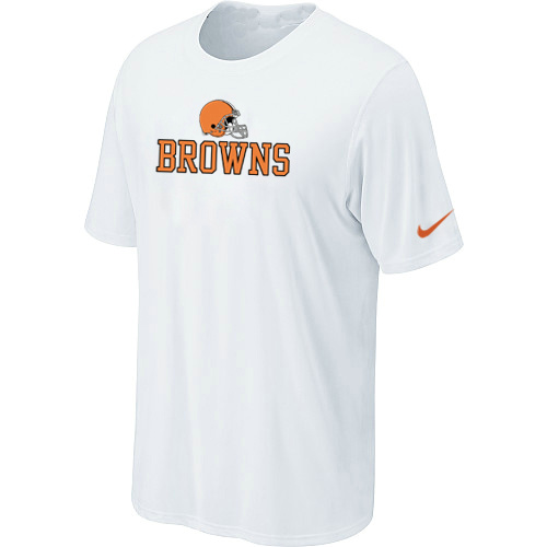 Nike Cleveland Browns Authentic Logo T-Shirt White