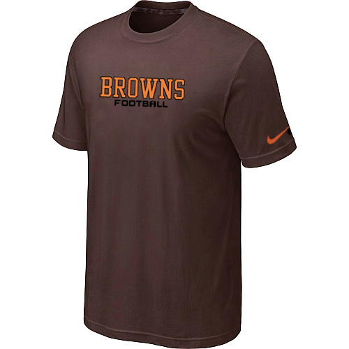 Nike Cleveland Browns Sideline Legend Authentic Font Dri-FIT T-Shirt Brow