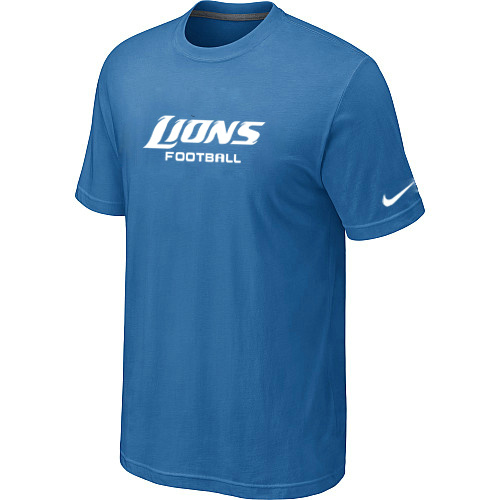 Nike Detroit Lions Sideline Legend Authentic Font Dri-FIT T-Shirt L.Blue