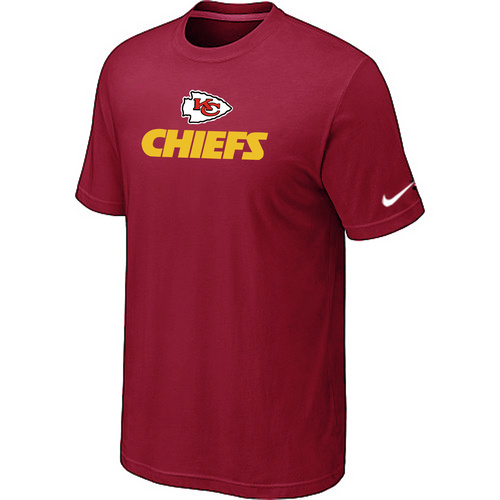 Nike Kansas City Chiefs Authentic Logo T-Shirt Red