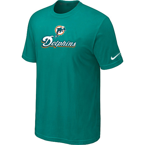 Nike Miami Dolphins Authentic Logo T-Shirt Green