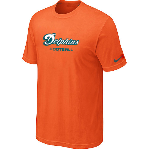 Nike Miami Dolphins Sideline Legend Authentic Font Dri-FIT T-Shirt Orange