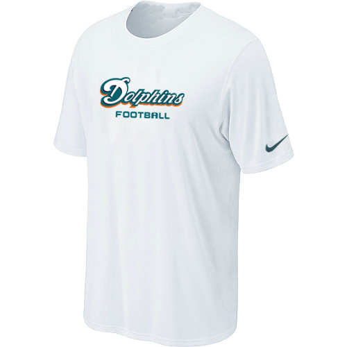 Nike Miami Dolphins Sideline Legend Authentic Font Dri-FIT T-Shirt White