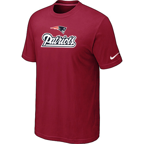 Nike New England Patriots Authentic Logo T-Shirt Red