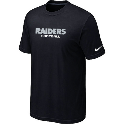 Nike Oakland Raiders Sideline Legend Authentic Font Dri-FIT T-Shirt black
