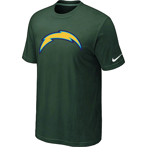 Nike San Diego Chargers Sideline Legend Authentic Logo Dri-FIT T-Shirt D.Green